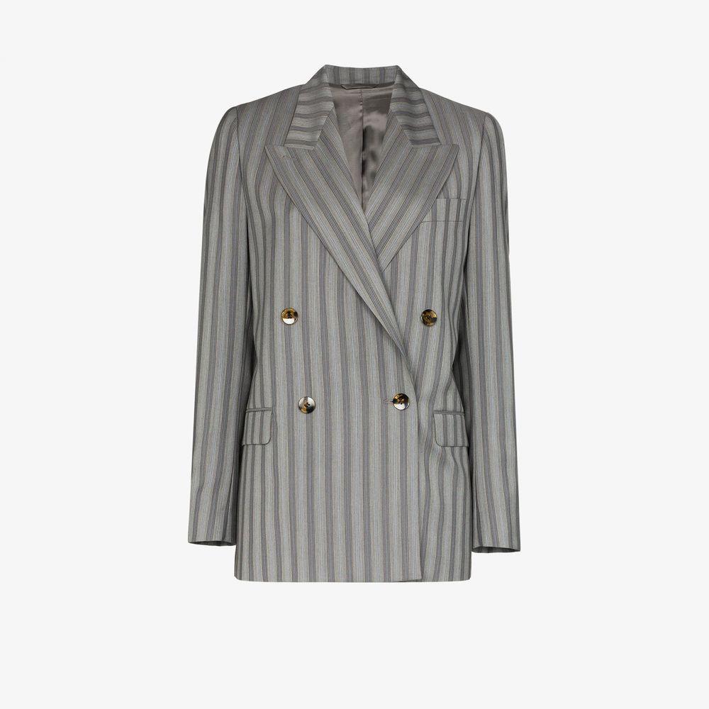 アクネ ストゥディオズ Acne Studios レディース スーツ・ジャケット アウター【pinstripe wool double-breasted blazer】grey