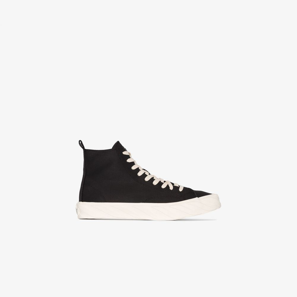 エイジ AGE メンズ スニーカー シューズ・靴【carbon coated canvas sneakers】black