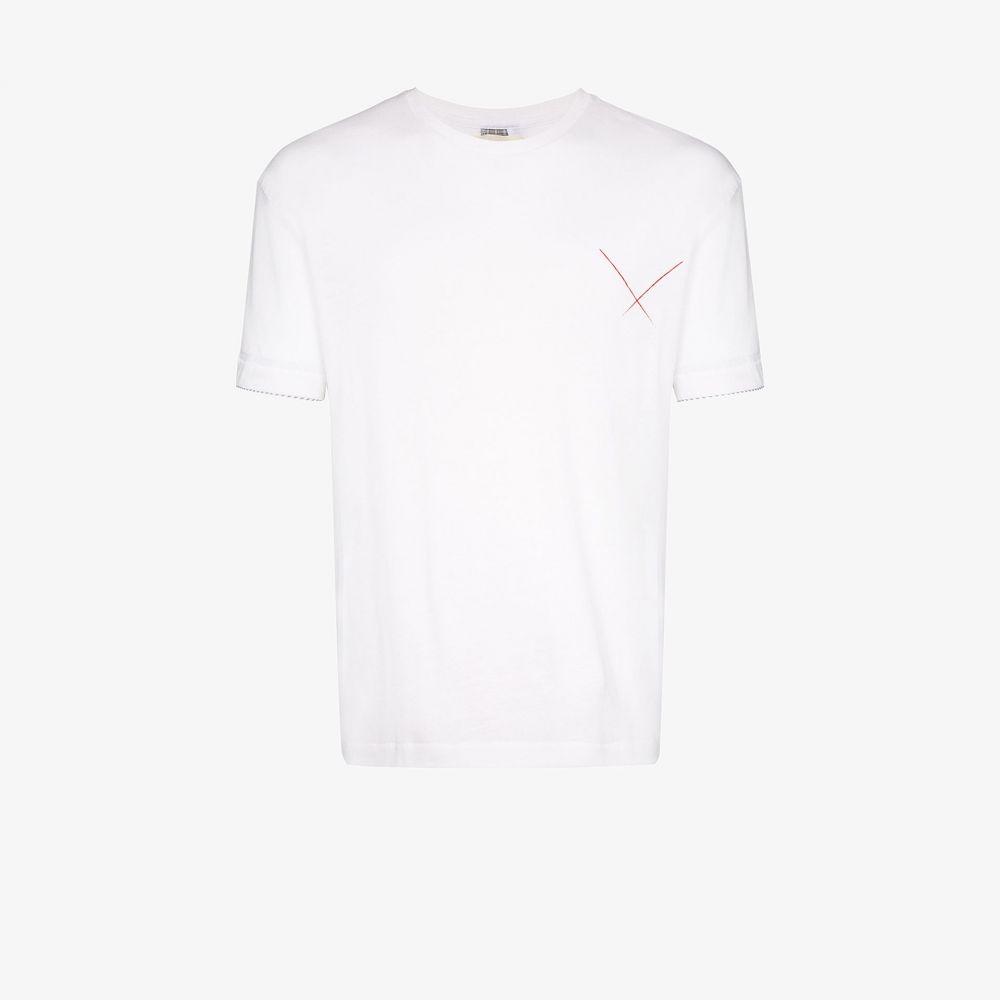 78 スティッチーズ 78 Stitches メンズ Tシャツ トップス【back stripe detail T-Shirt】white