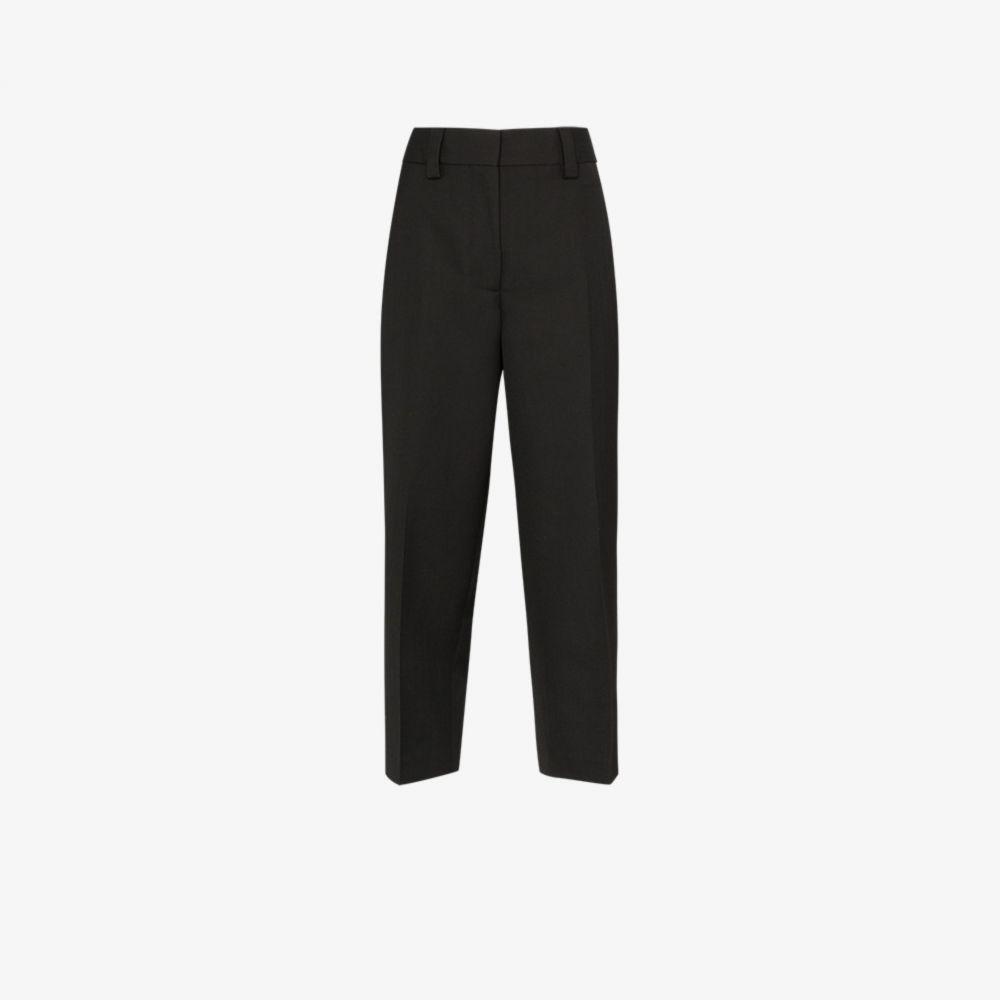 アクネ ストゥディオズ Acne Studios レディース クロップド ボトムス・パンツ【Cropped tailored trousers】black