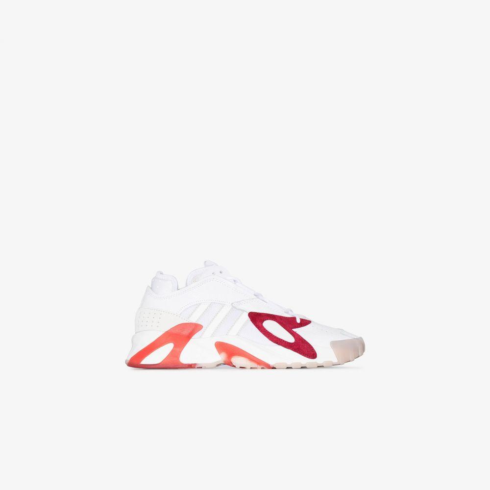 アディダス adidas メンズ スニーカー シューズ・靴【white, red and orange streetball sneakers】white