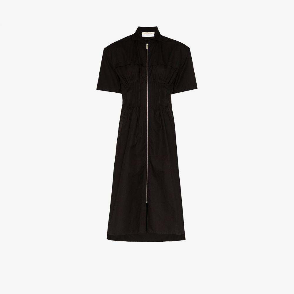 アリクス 1017 ALYX 9SM レディース ワンピース シャツワンピース ワンピース・ドレス【zip-up cotton shirt dress】black