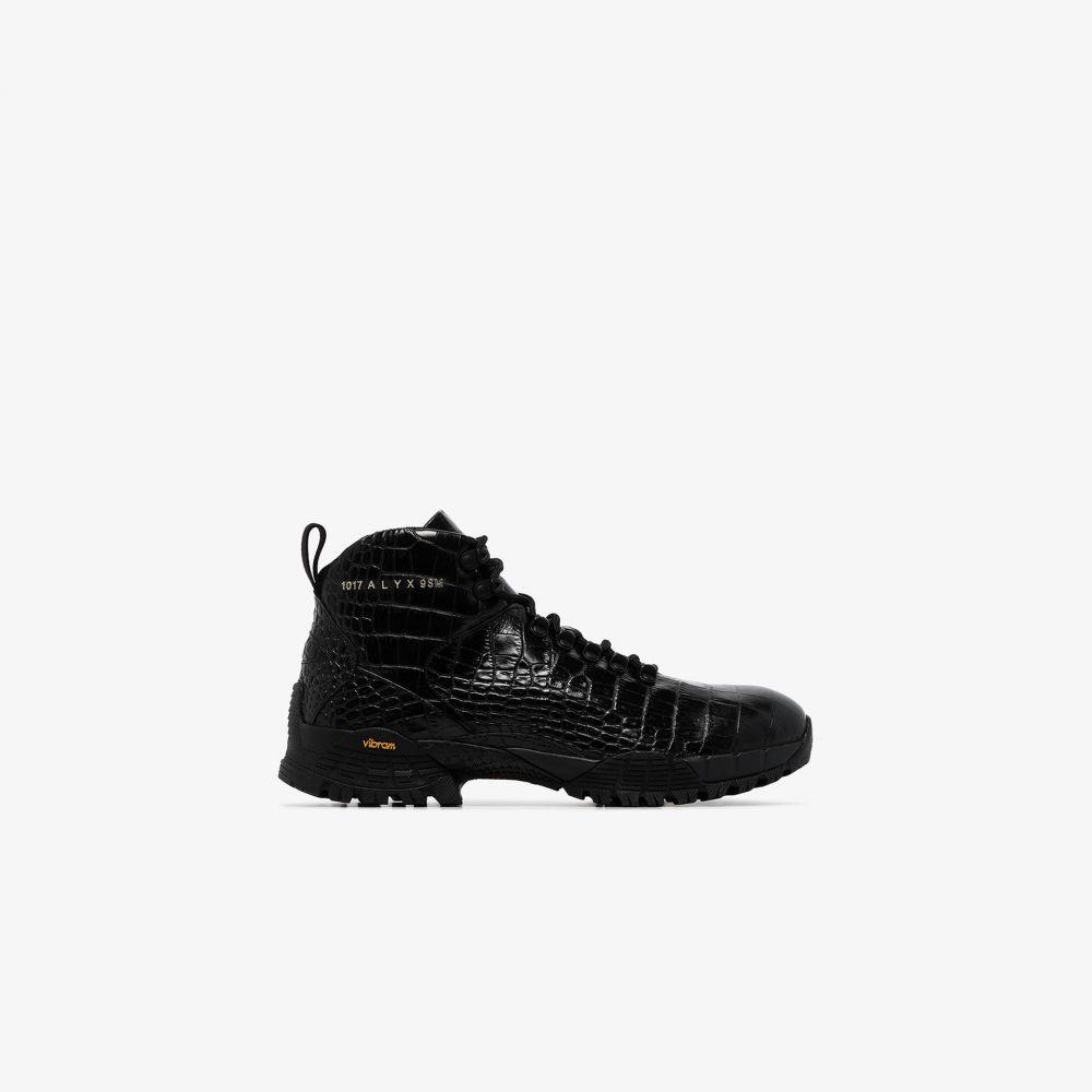 アリクス 1017 ALYX 9SM メンズ ブーツ シューズ・靴【black leather hiking boots】black