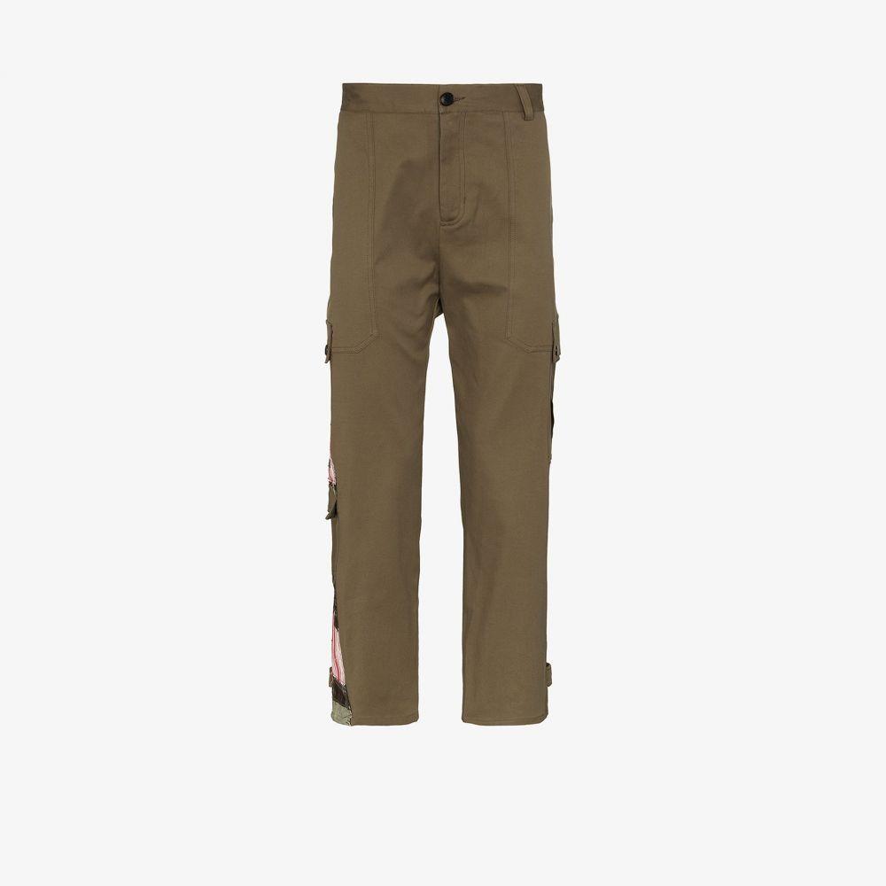78 スティッチーズ 78 Stitches メンズ カーゴパンツ ボトムス・パンツ【Patch detail cargo trousers】green