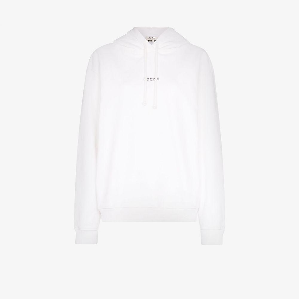 アクネ ストゥディオズ Acne Studios レディース パーカー トップス【Classic logo print hoodie】white