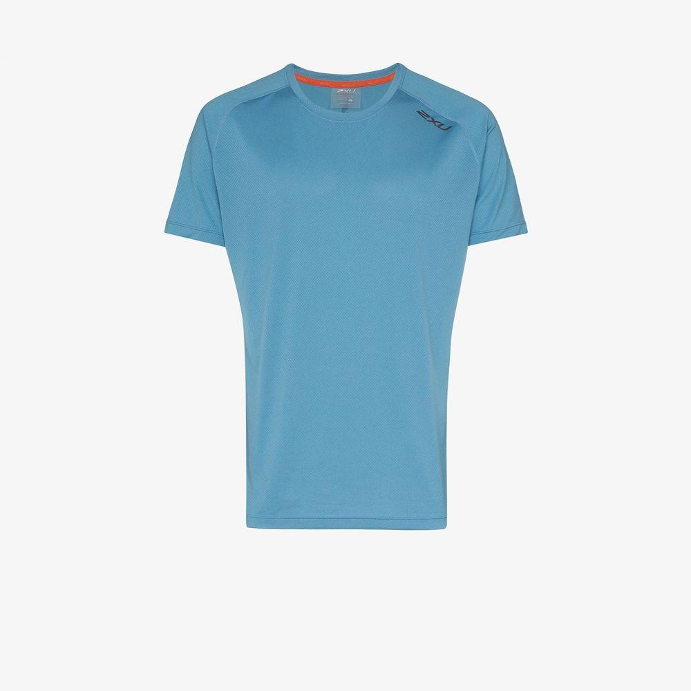 ツータイムズユー 2XU メンズ ランニング・ウォーキング Tシャツ トップス【Blue GHST Run T-shirt】blue