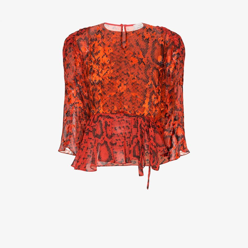 プリーン バイ ソーントン ブルガッジ Preen By Thornton Bregazzi レディース ブラウス・シャツ トップス【Delma snake print blouse】red