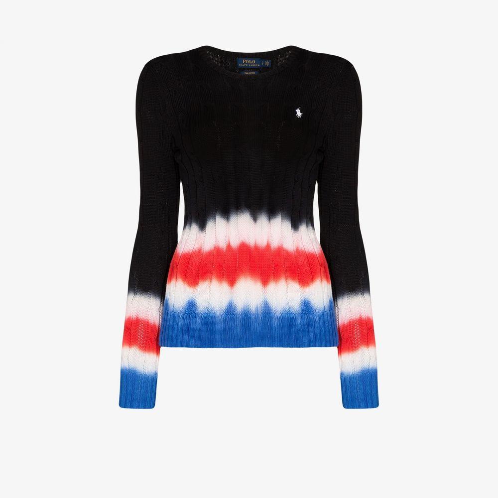 ラルフ ローレン Polo Ralph Lauren レディース ポロシャツ トップス【polo pony tie-dye cotton sweater】black