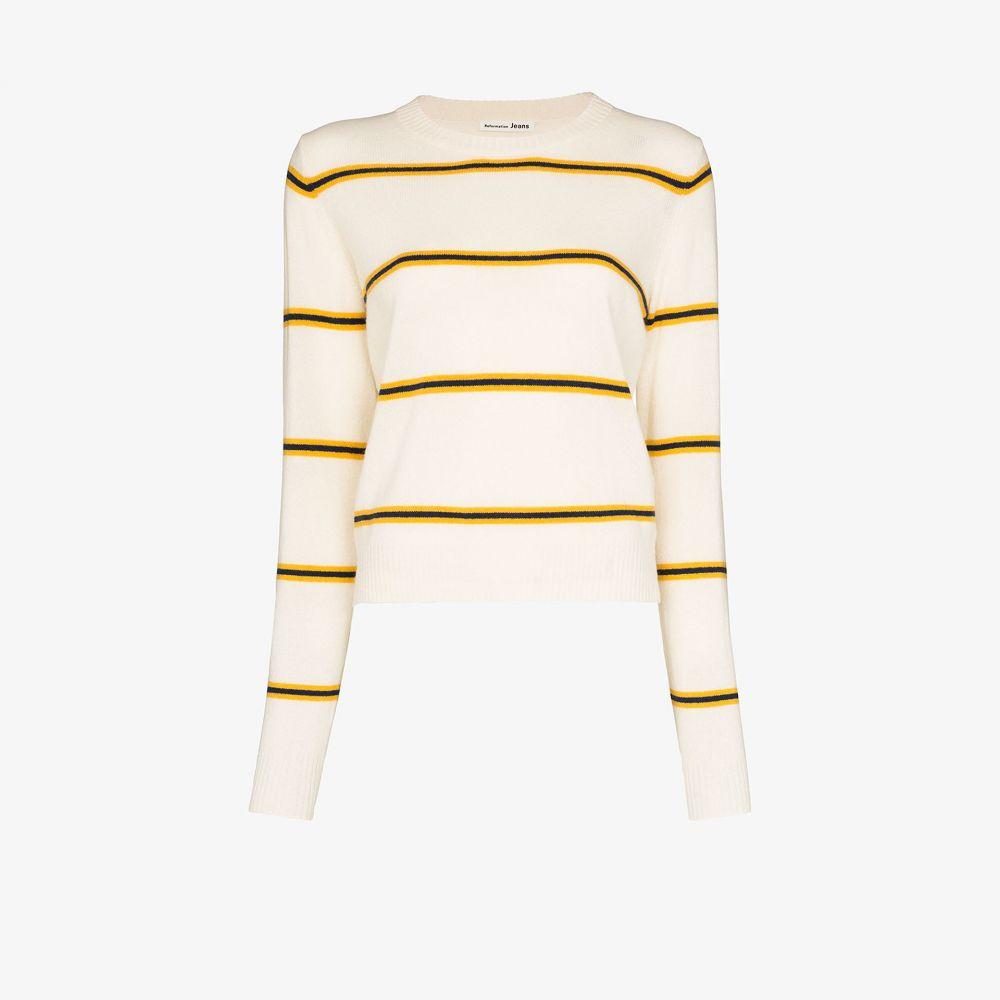リフォーメーション Reformation レディース ニット・セーター トップス【Striped cashmere sweater】neutrals