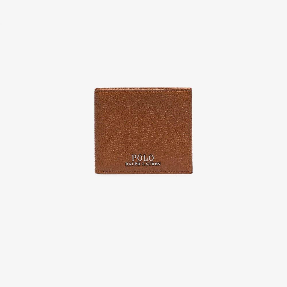 ラルフ ローレン Polo Ralph Lauren メンズ 財布 二つ折り【brown logo leather bifold wallet】brown