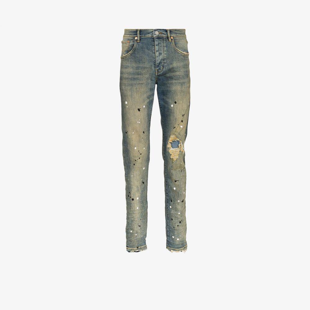 パープル ブランド purple brand メンズ ジーンズ・デニム ボトムス・パンツ【Paint splatter jeans】blue