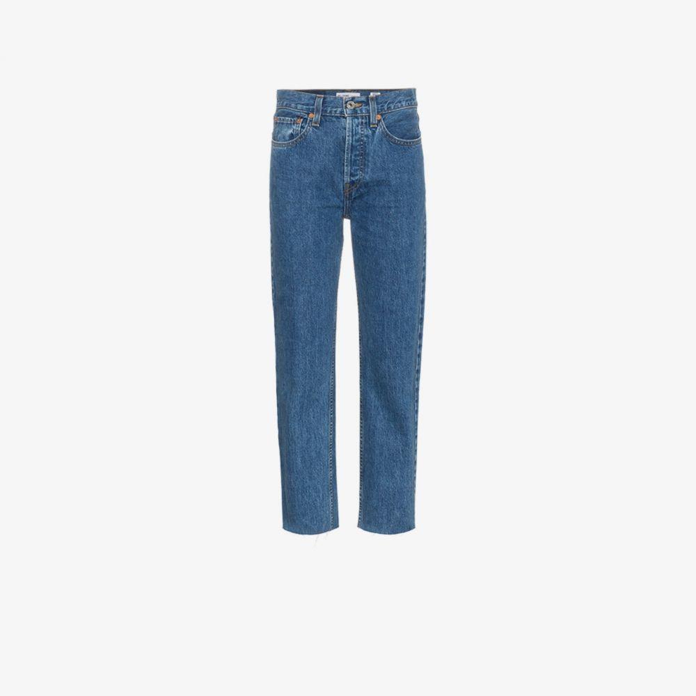 リダン RE/DONE レディース ジーンズ・デニム ボトムス・パンツ【Stove Pipe 27 jeans】blue