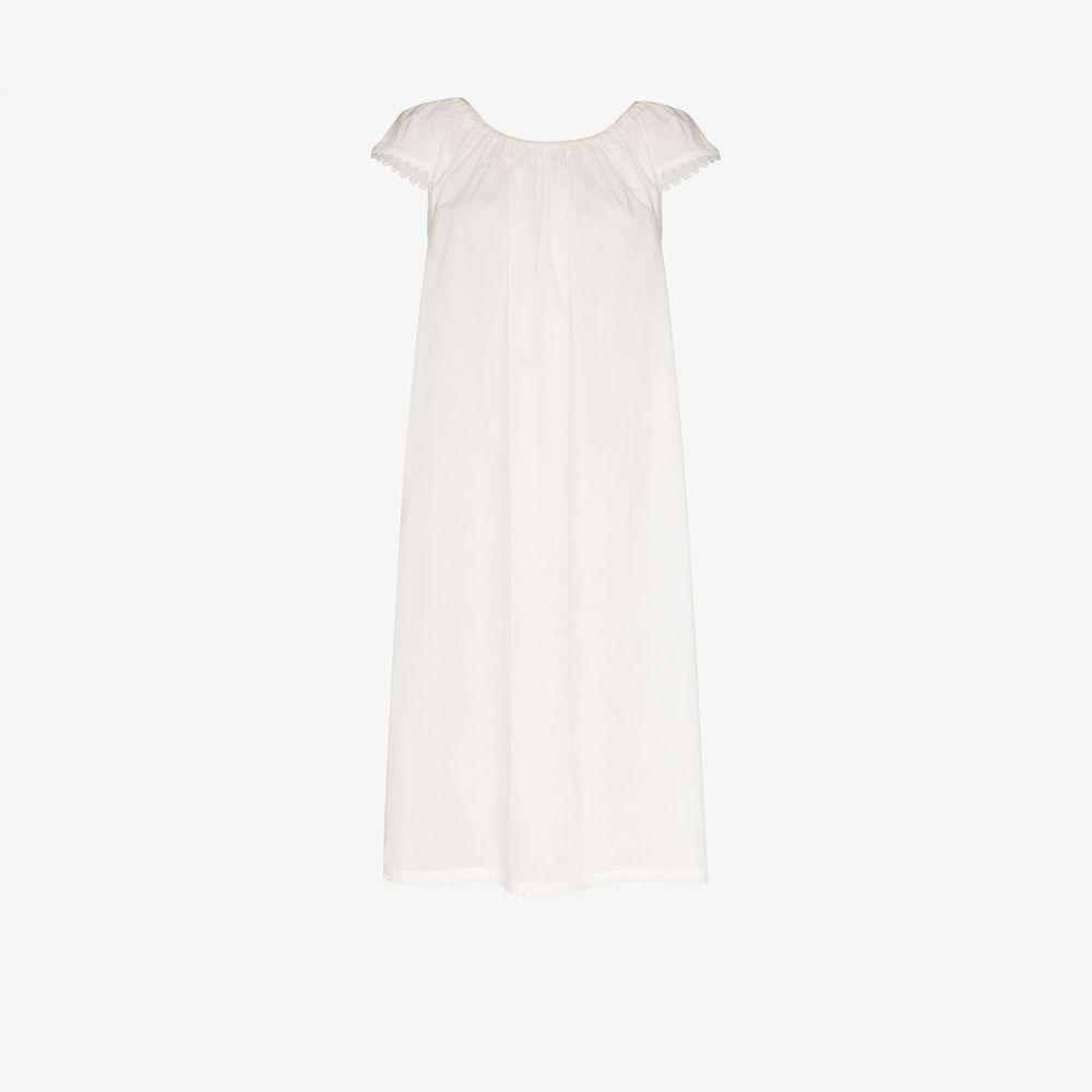 プーラ ファム Pour Les Femmes レディース ビーチウェア 水着・ビーチウェア【Lawn scalloped hem nightdress】white
