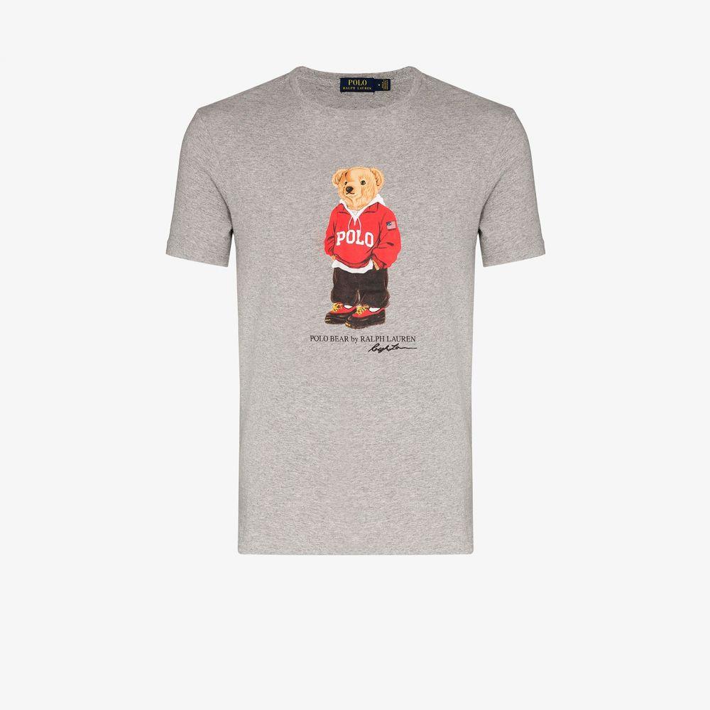 ラルフ ローレン Polo Ralph Lauren メンズ Tシャツ トップス【Polo Bear print cotton T-shirt】grey