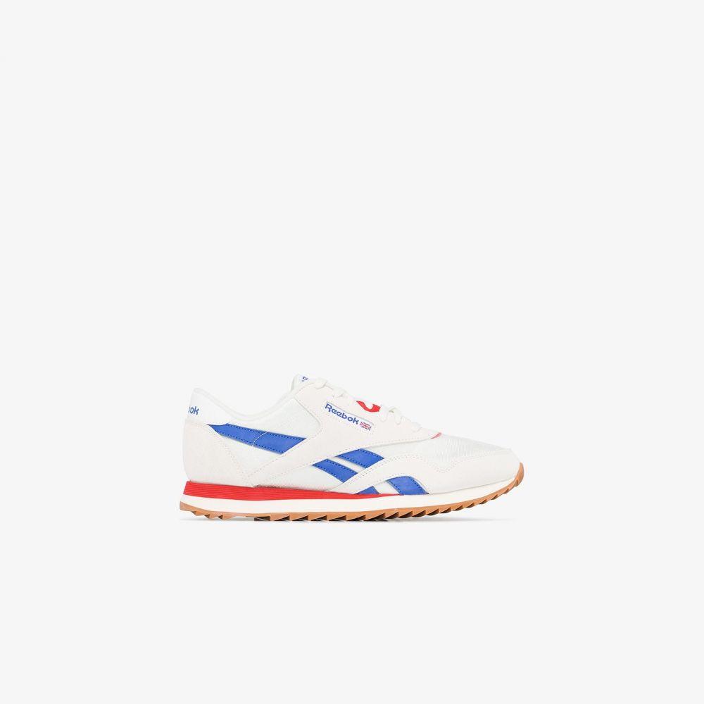 リーボック Reebok メンズ スニーカー シューズ・靴【white, blue and red Ripple sneakers】white