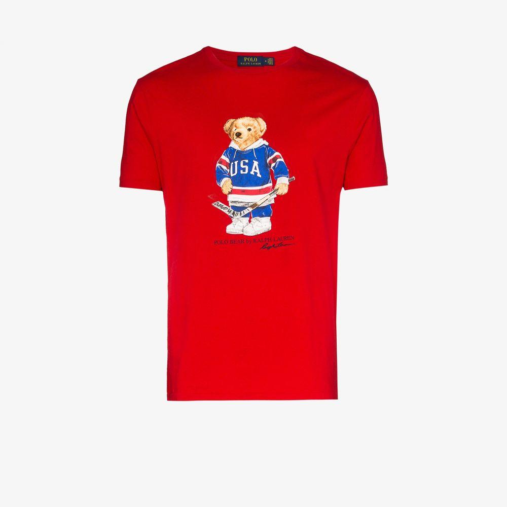 ラルフ ローレン Polo Ralph Lauren メンズ Tシャツ トップス【Polo Bear printed cotton T-shirt】red