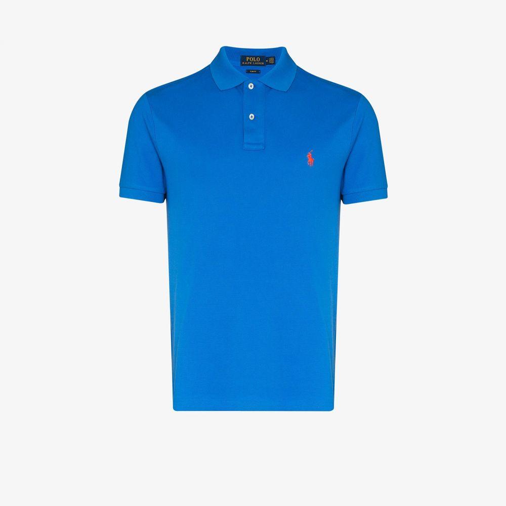 ラルフ ローレン Polo Ralph Lauren メンズ ポロシャツ トップス【cotton polo shirt】blue