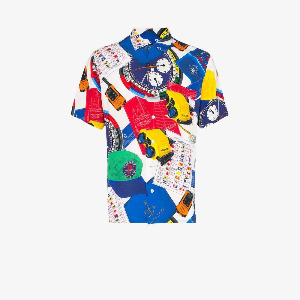 ラルフ ローレン Polo Ralph Lauren メンズ 半袖シャツ トップス【graphic print short-sleeved shirt】blue