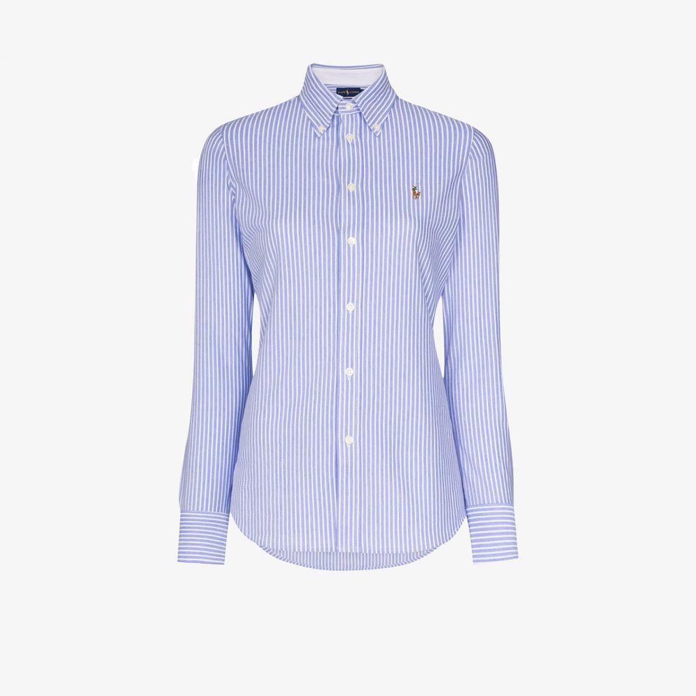 ラルフ ローレン Polo Ralph Lauren レディース ブラウス・シャツ トップス【Oxford stripe cotton shirt】blue