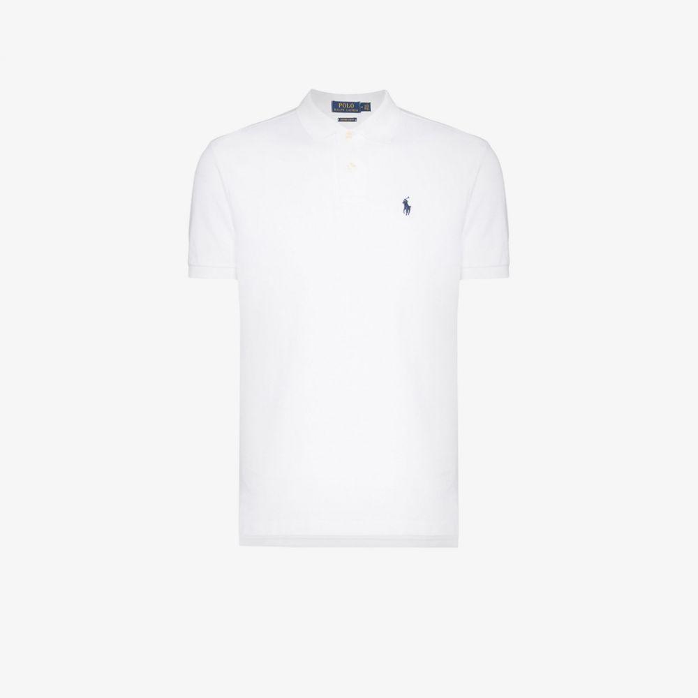 ラルフ ローレン Polo Ralph Lauren メンズ ポロシャツ トップス【Embroidered Logo Cotton Polo Shirt】white