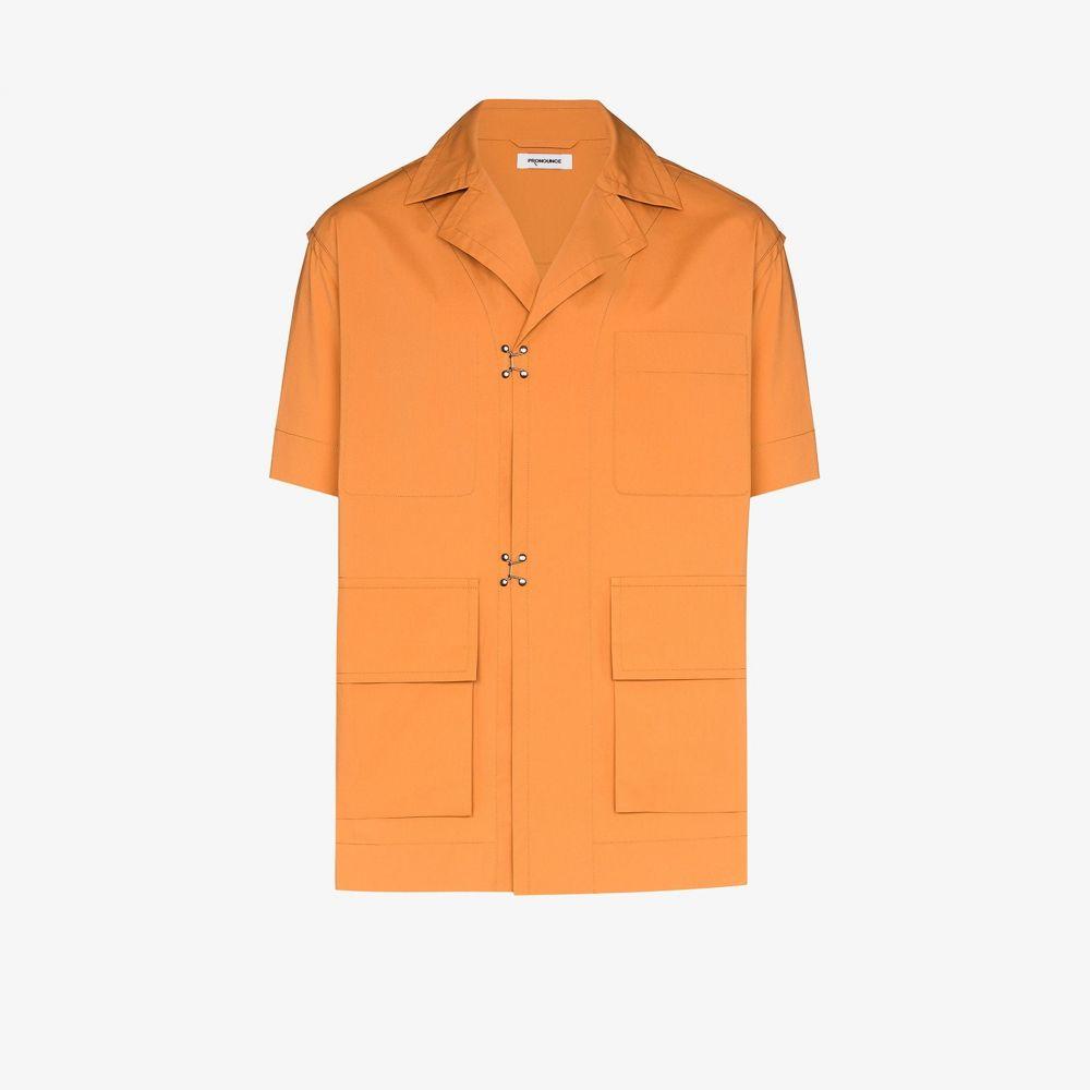 プロナウンス Pronounce メンズ 半袖シャツ トップス【Pocketed short sleeve shirt】orange