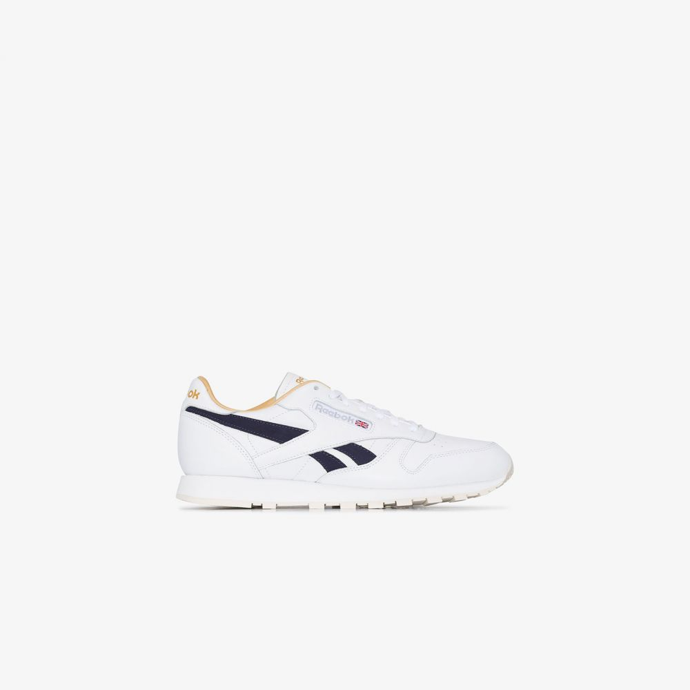 リーボック Reebok メンズ スニーカー ローカット シューズ・靴【white Classic low top leather sneakers】white