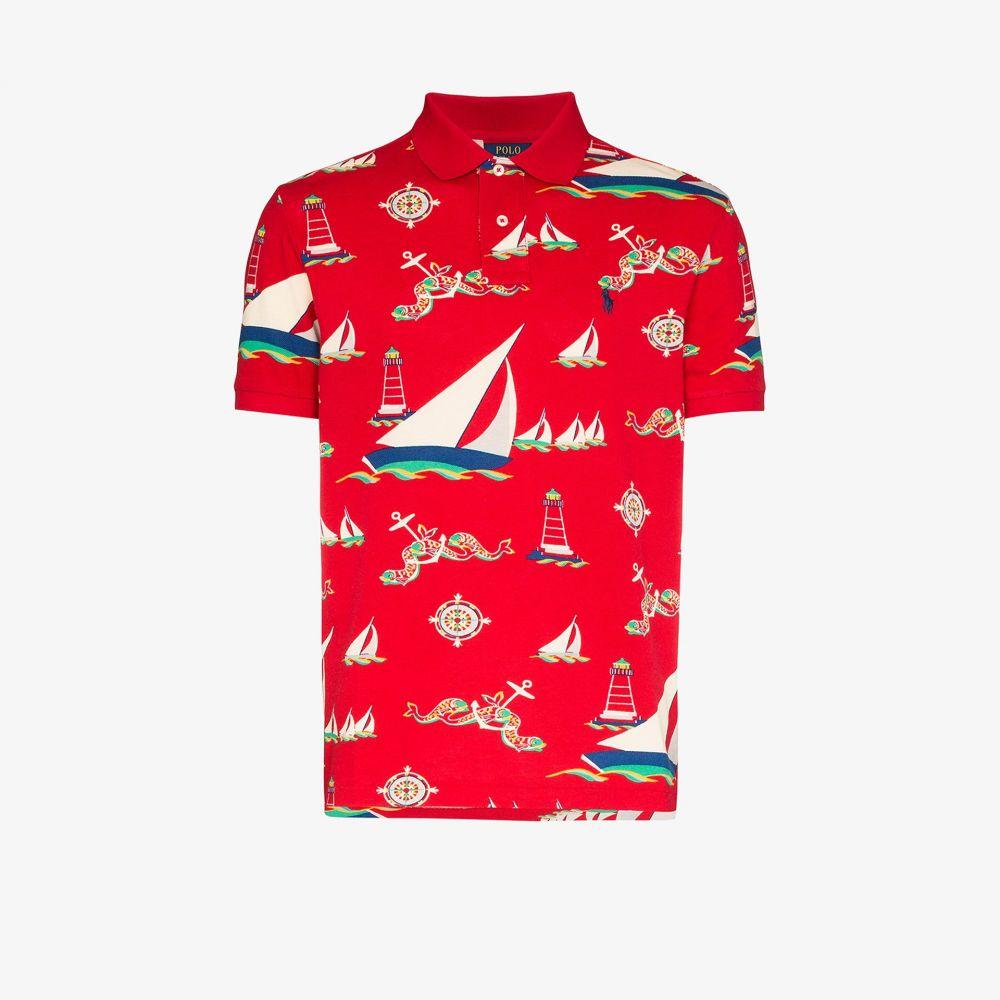 ラルフ ローレン Polo Ralph Lauren メンズ ポロシャツ トップス【Boat print polo shirt】red
