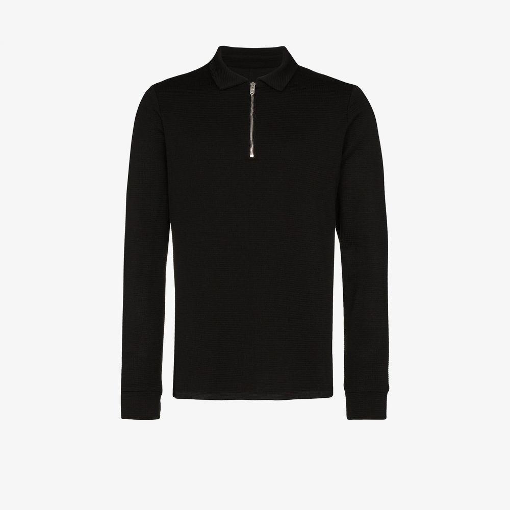 プレヴ Prevu メンズ ポロシャツ トップス【Candreva waffle knit polo shirt】black
