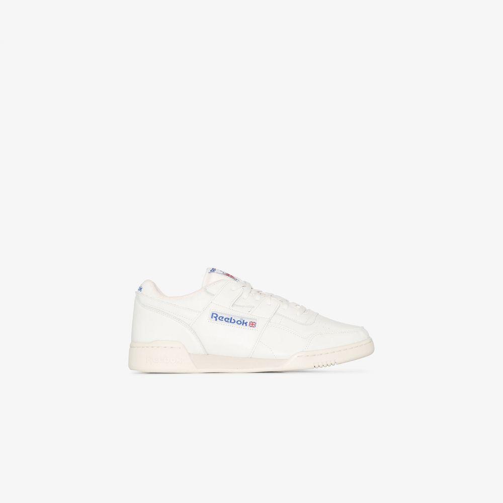 リーボック Reebok メンズ スニーカー シューズ・靴【white Workout Plus leather sneakers】white