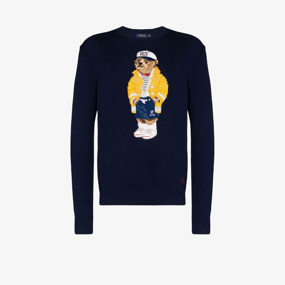ラルフ ローレン Polo Ralph Lauren メンズ ポロシャツ トップス【Polo Bear crew neck sweater】blue