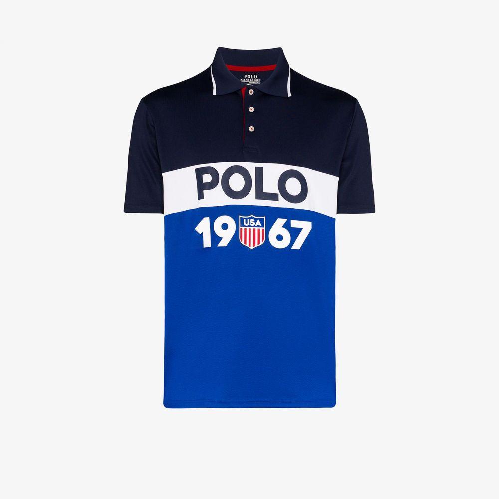 ラルフ ローレン Polo Ralph Lauren メンズ ポロシャツ トップス【Logo stripe polo shirt】blue