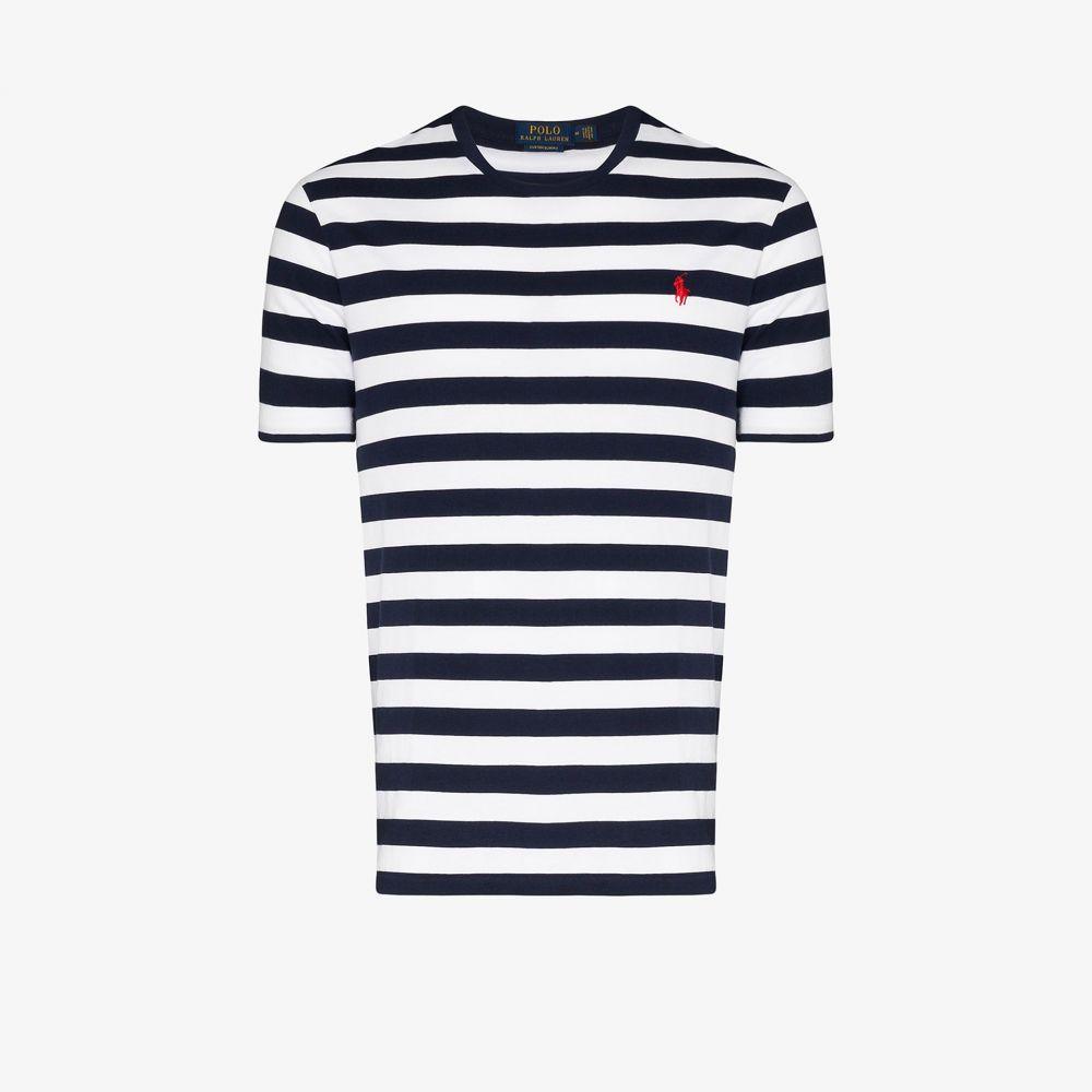ラルフ ローレン Polo Ralph Lauren メンズ Tシャツ トップス【Striped logo T-shirt】black