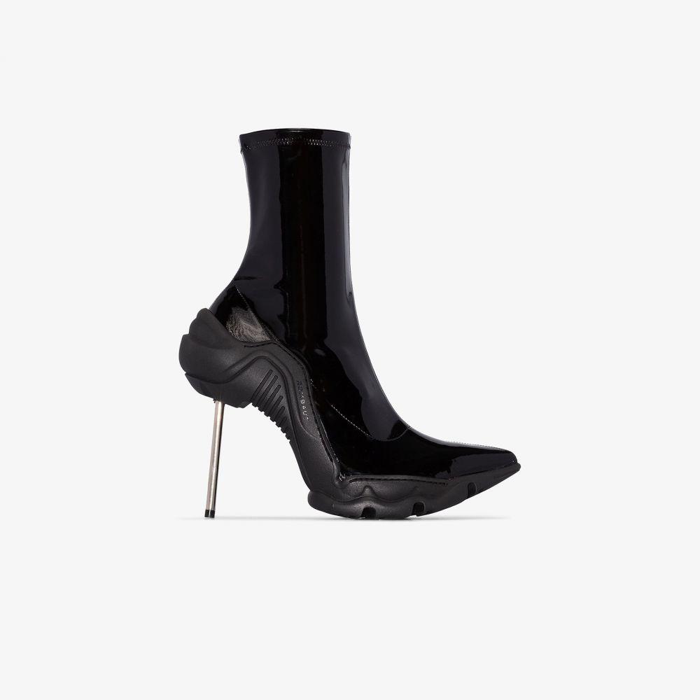 ロンバート Rombaut レディース ブーツ ショートブーツ シューズ・靴【black boccaccio 100 vinyl ankle boots】black