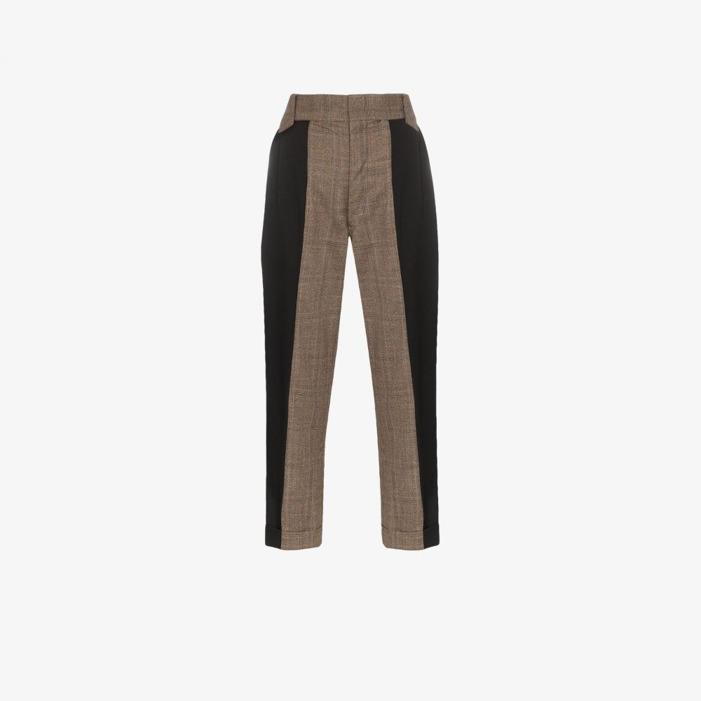 Rentrayage レディース クロップド ボトムス・パンツ【split personality wool trousers】black