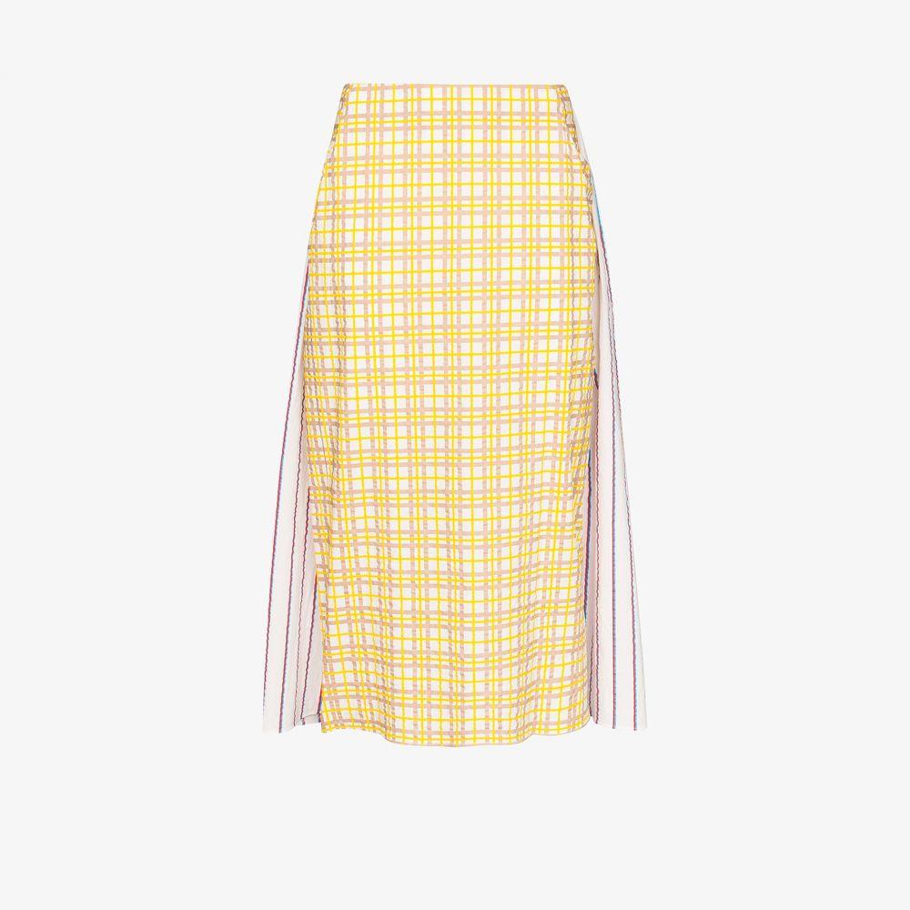 ロージーアスリン Rosie Assoulin レディース ひざ丈スカート スカート【Party In The Back contrast cotton midi skirt】yellow