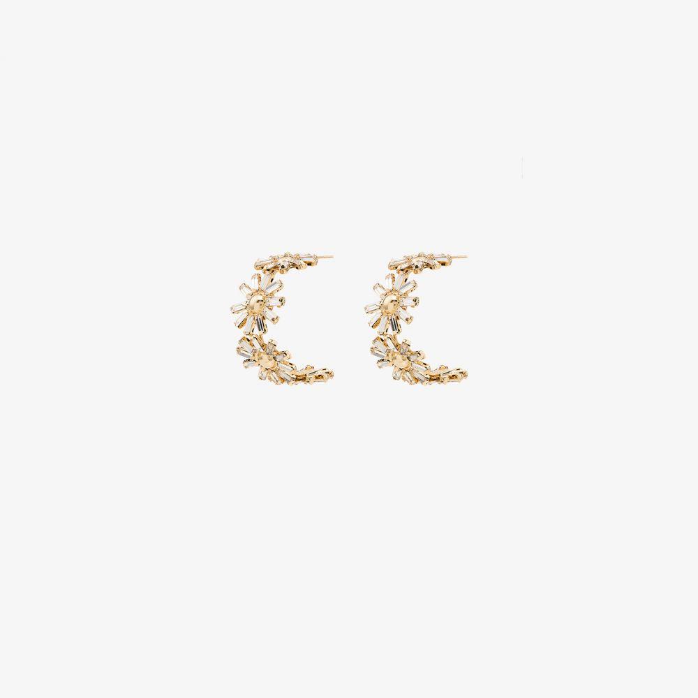 ロザンティカ Rosantica レディース イヤリング・ピアス ジュエリー・アクセサリー【gold tone Idilio crystal flower hoop earrings】gold