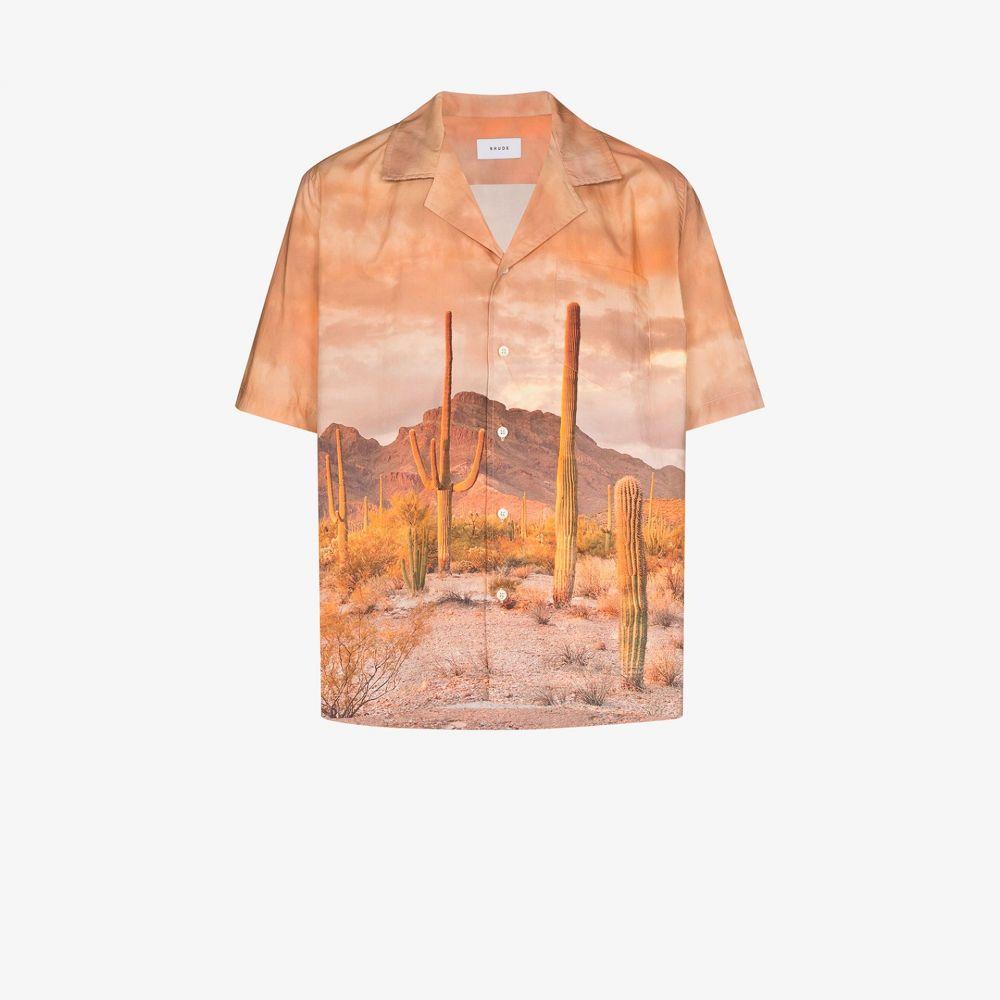 ルード Rhude メンズ シャツ ボーリングシャツ トップス【cactus print bowling shirt】brown