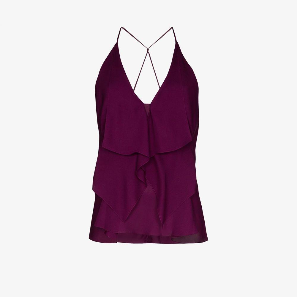 ローラン ムレ Roland Mouret レディース トップス 【Zenna ruffled silk top】purple