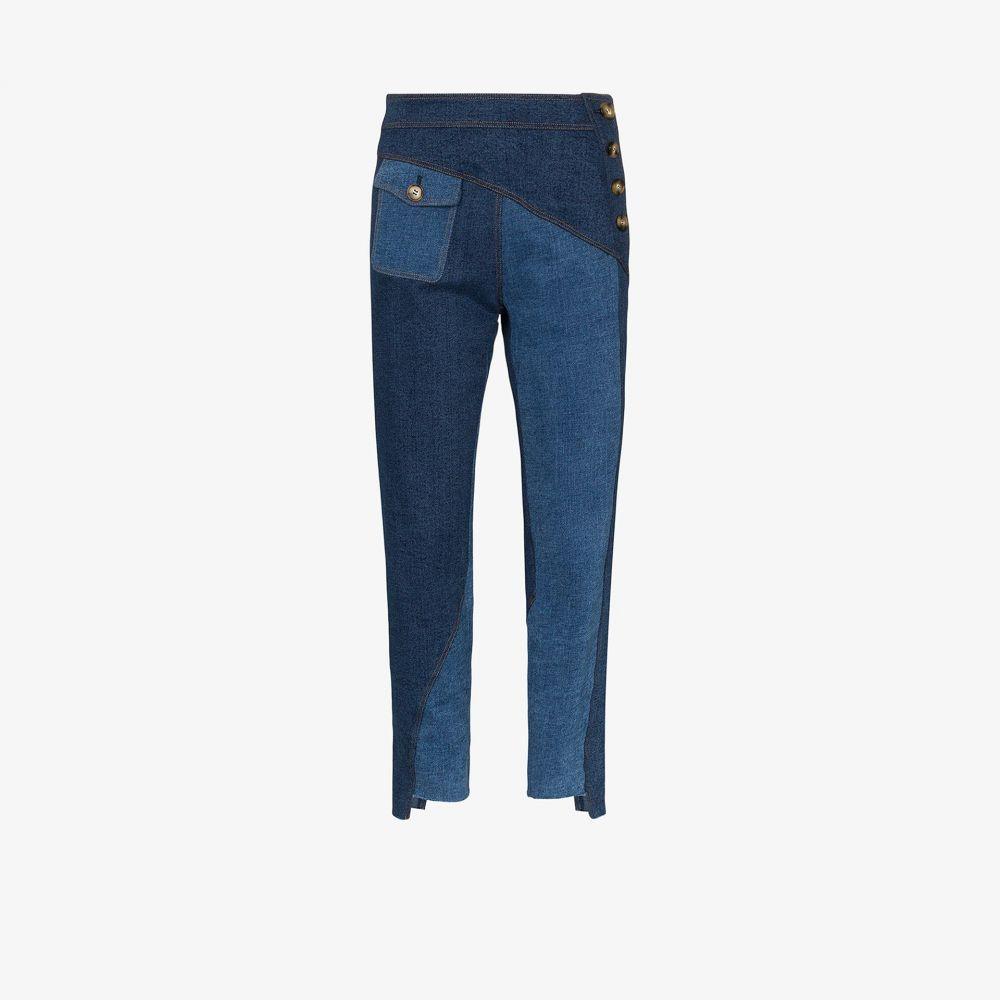 レジーナ ピヨ Rejina Pyo レディース ジーンズ・デニム ボトムス・パンツ【Lucie patchwork skinny jeans】blue