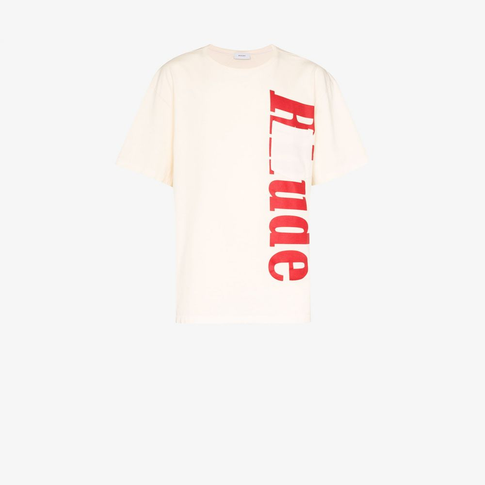ルード Rhude メンズ Tシャツ ポケット トップス【pocket detail logo cotton T-shirt】neutrals