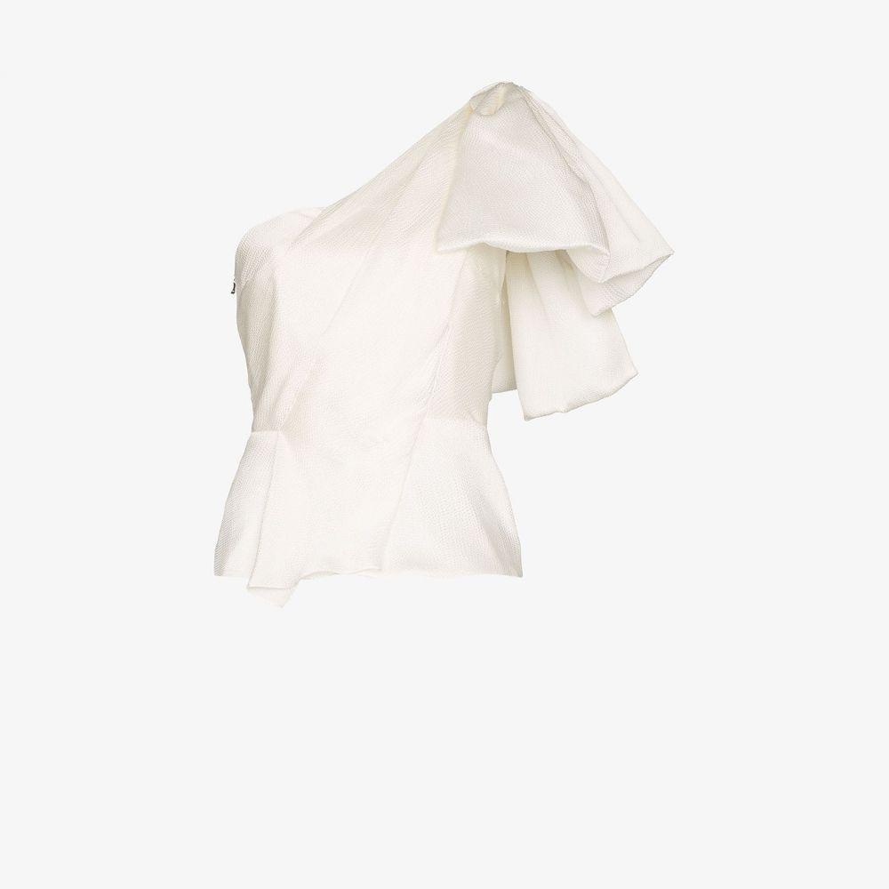 ローラン ムレ Roland Mouret レディース トップス 【Toulon frilled silk top】white