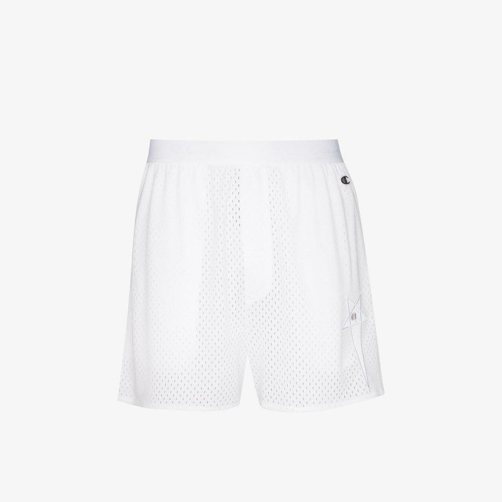 リック オウエンス Rick Owens X Champion メンズ ショートパンツ ボトムス・パンツ【X Champion white mesh basketball shorts】white