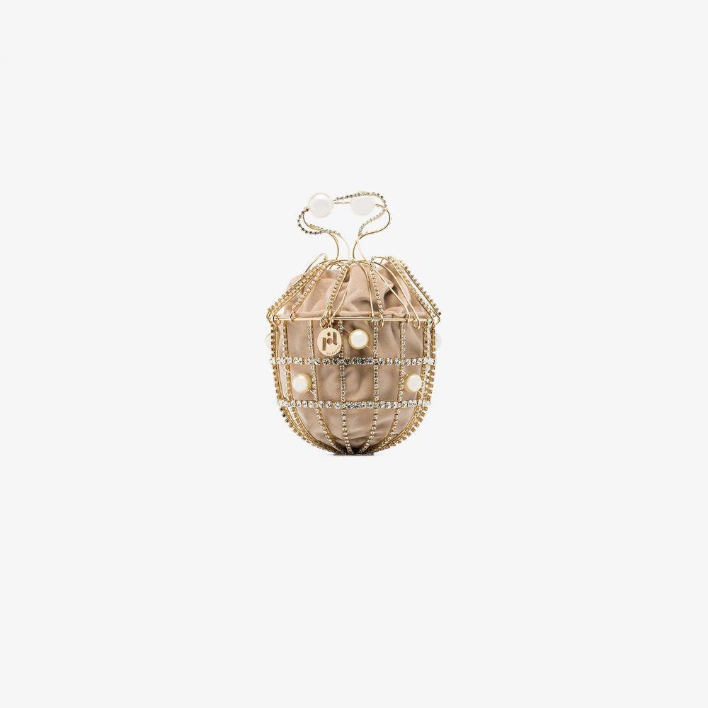 ロザンティカ レディース バッグ クラッチバッグ サイズ交換無料 Rosantica gold bracelet velvet metallic bag 情熱セール Ginestra crystal tone 世界の人気ブランド