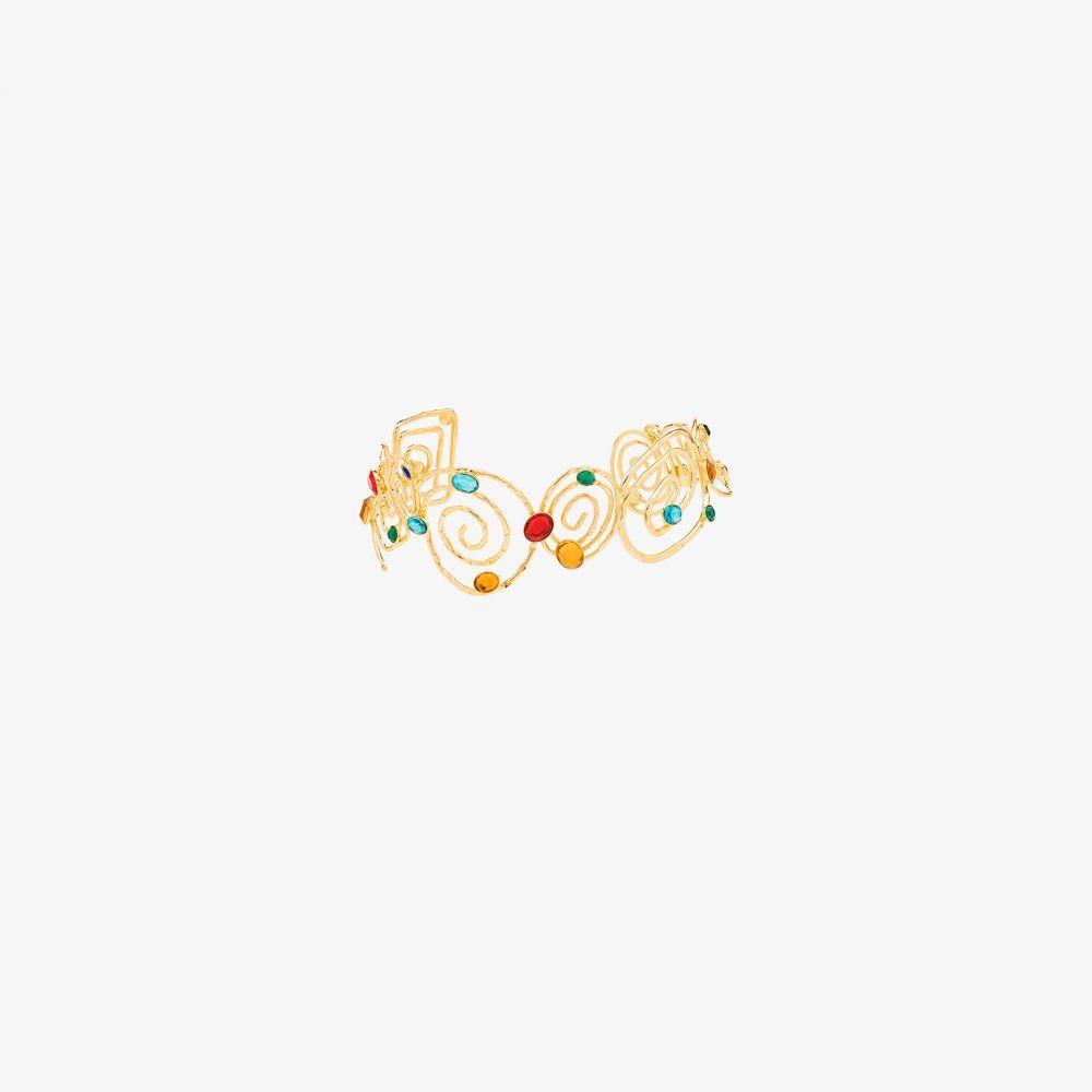 リキソ Rixo レディース ネックレス チョーカー ジュエリー・アクセサリー【gold-plated Missandei swirl gem choker】gold