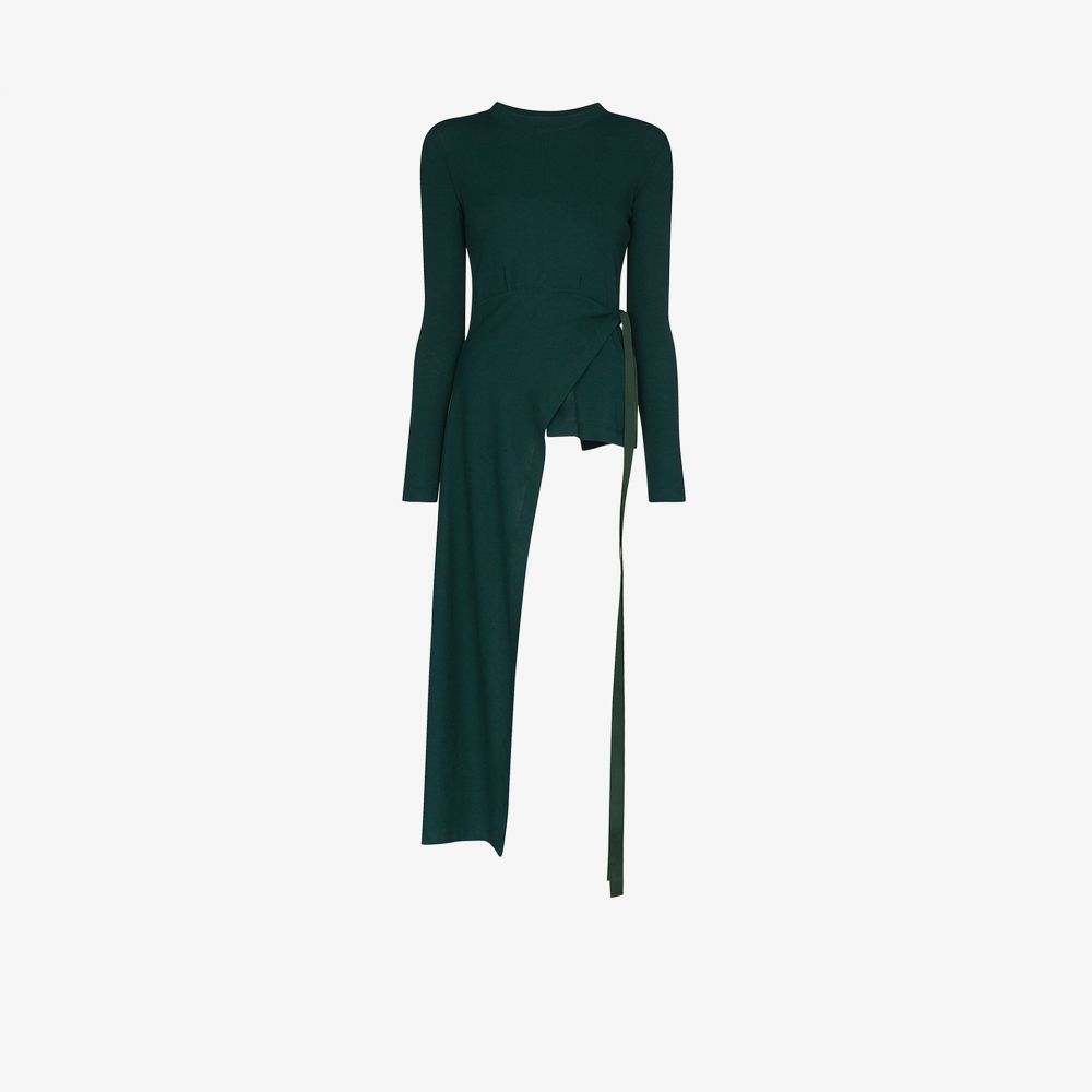ロゼッタゲティー Rosetta Getty レディース トップス 【asymmetric wrap cotton top】green