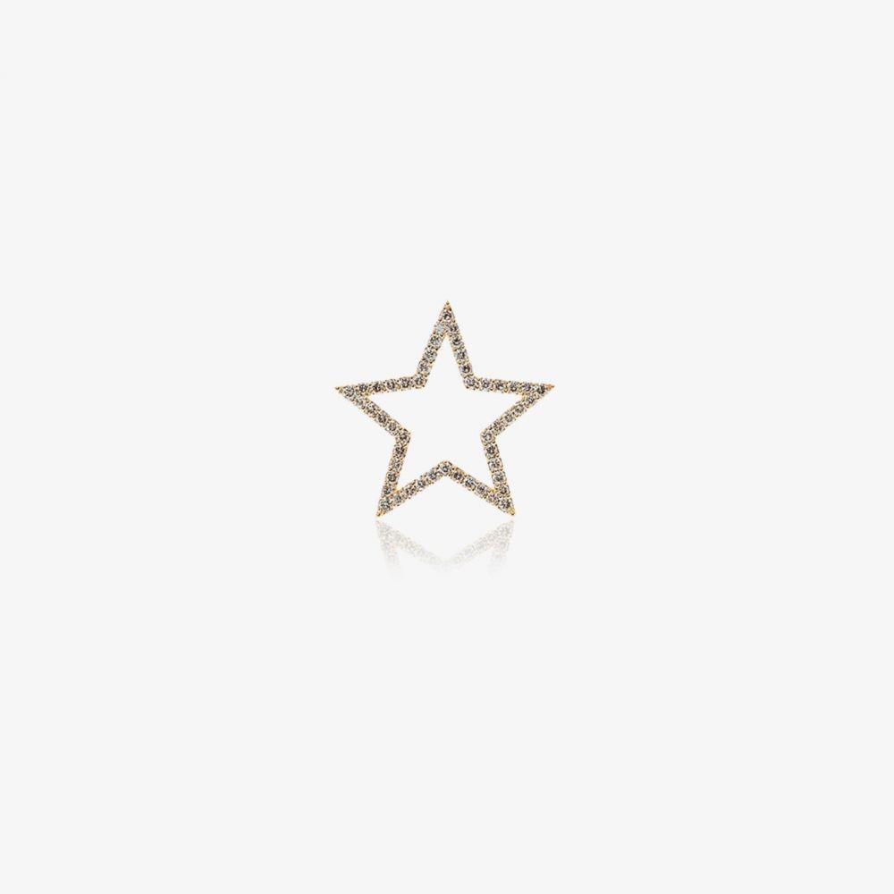 ローサ デ ラ クルス Rosa De La Cruz レディース ジュエリー・アクセサリー 【18k yellow gold diamond star pendant】metallic