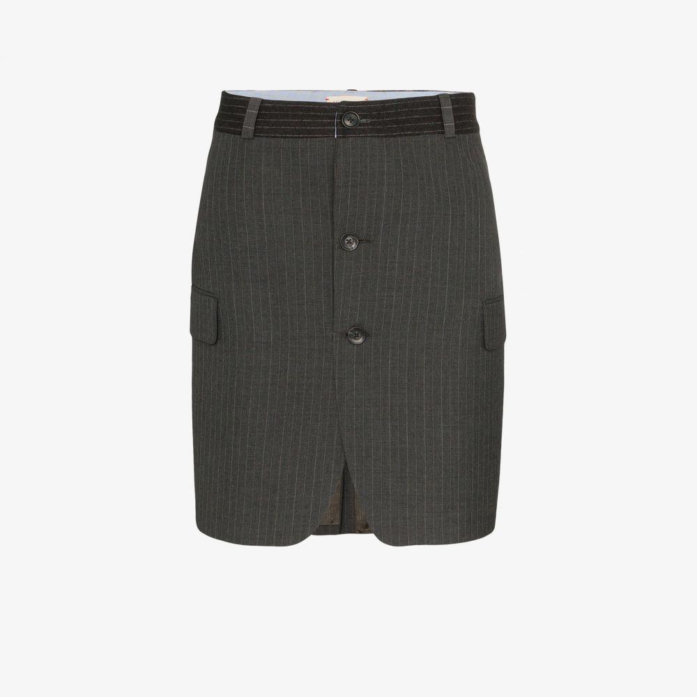 Rentrayage レディース ミニスカート スカート【pinstripe wool mini skirt】grey