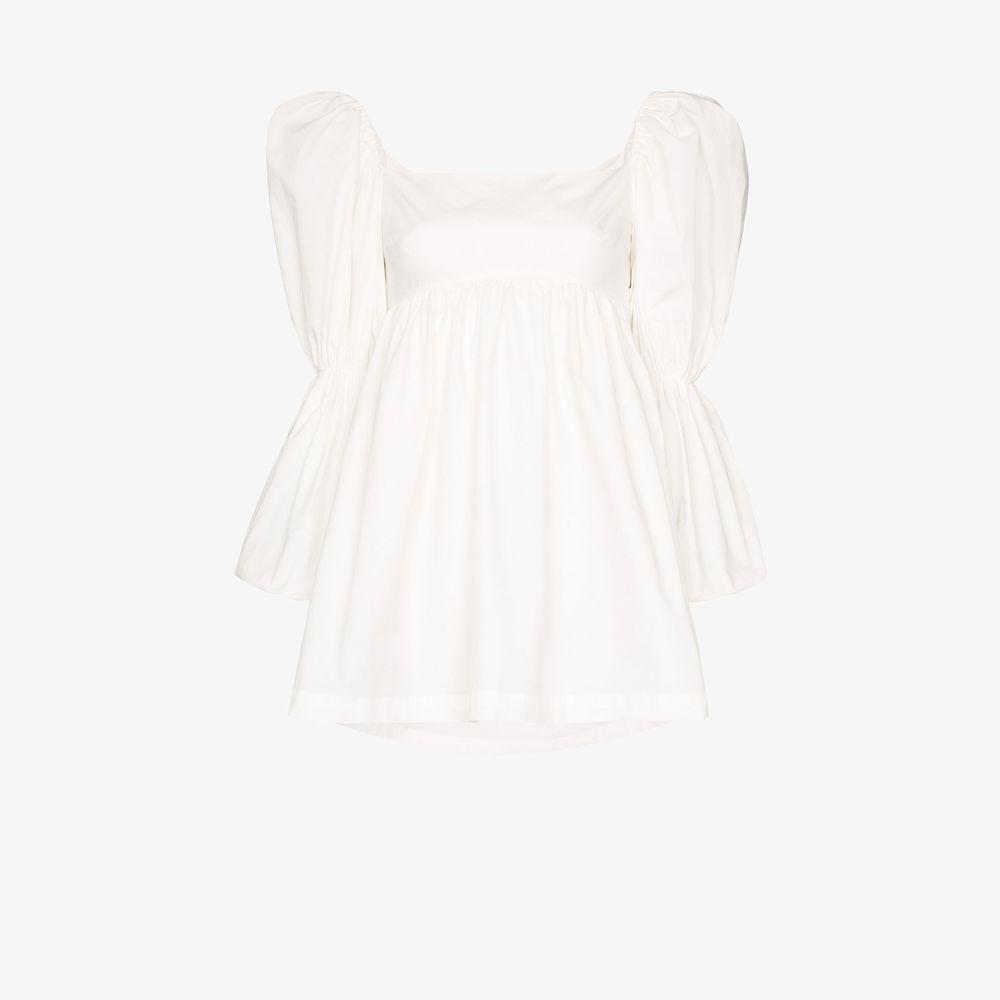 Pyo Rejina ピヨ sleeve トップス【Kayla レジーナ レディース puff blouse】white ブラウス・シャツ