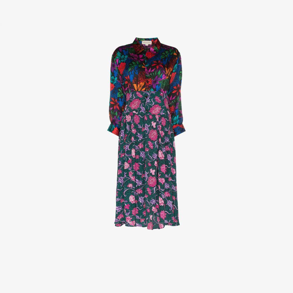 Rentrayage レディース ワンピース シャツワンピース ワンピース・ドレス【Dragon Lady floral print shirt dress】pink