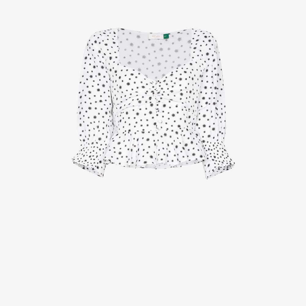 リキソ Rixo レディース トップス 【Sameera star print top】white